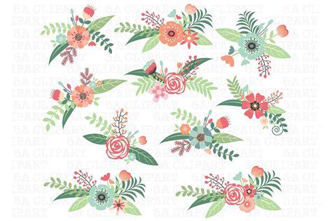 floral clip wedding floral clipart illustrations creative market