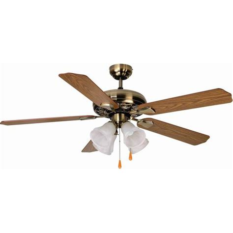 aloha 174 52 quot dual mount antique brass ceiling fan