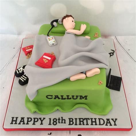 Mens Bedroom Ideas messy bed cake green grey
