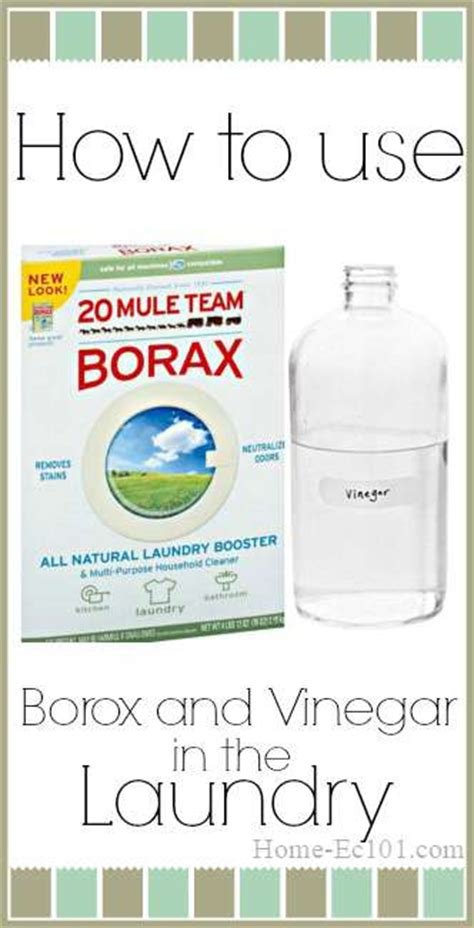 how to use vinegar and borax in the laundry home ec 101