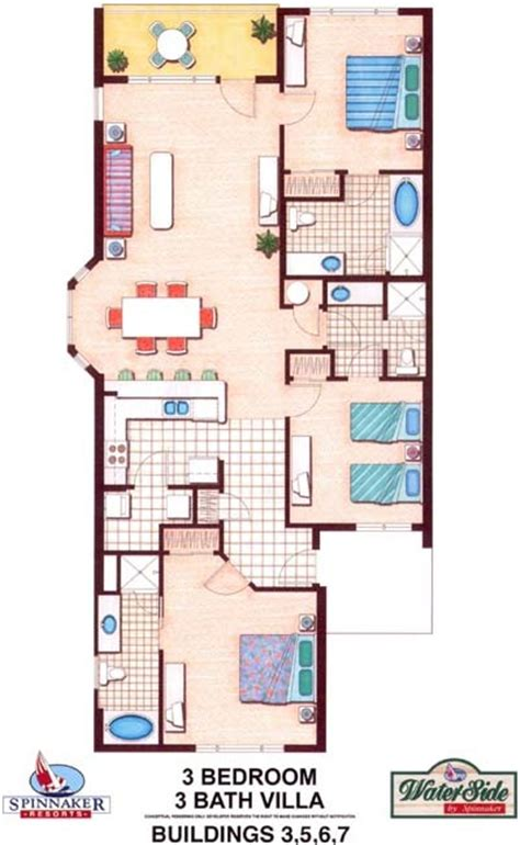 marriott aruba surf club 3 bedroom floor plan waterside by spinnaker photo waterside by spinnaker