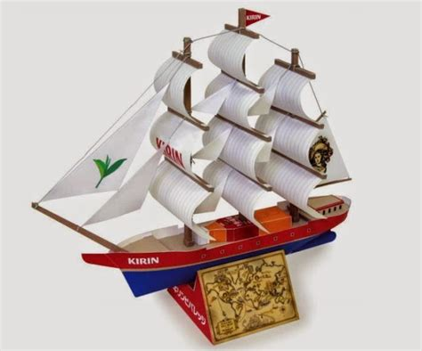 Papercraft Boat - papermau sea japanese sailing ship paper model for