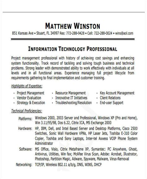 Professional Manager Resume by 43 Manager Resume Sles In Pdf Sle Templates