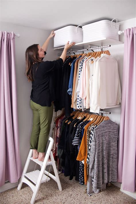 Ordinary Organizing Clothes Closet Ideas #2: 72c4959c93cd7af492f0a1199866e39b--closet-hangers-open-closets.jpg