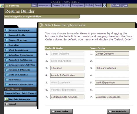 career cruising resume builder digitial resource career cruising