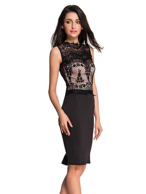 Glamours Dress glamorous lace detail black bodycon dress e60488 2
