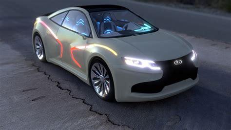 lada design the concept car quot lada iksrey hybrid quot design and visualization