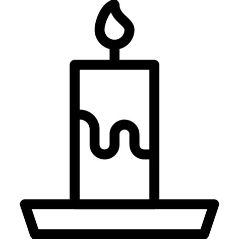 Candle Outline by Candle Icon Line Iconset Iconsmind