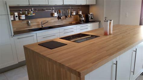 epaisseur plan de travail cuisine optez pour un plan de travail en bois massif