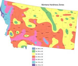 Zones For Gardening Map - montana cropmap