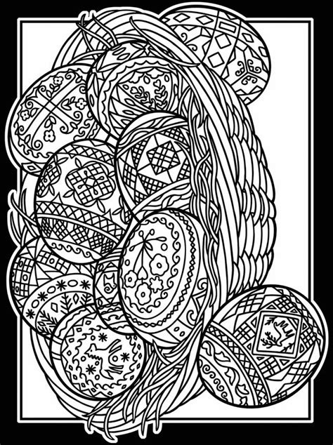 easter eggs coloring pages for adults dover stained glass coloring pages stained glass