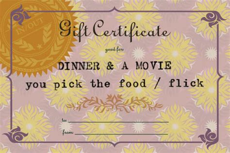 Dinner And A Movie Gift Cards - dinner and a movie v2 amy k studio
