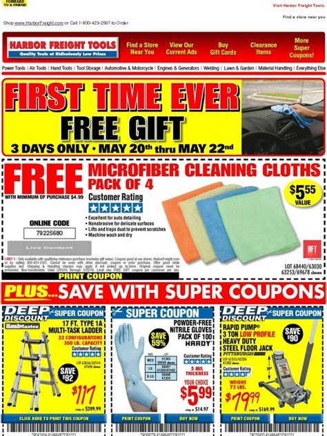 Buy Harbor Freight Gift Cards - harbor freight first time ever new free gift microfiber cleaning cloths