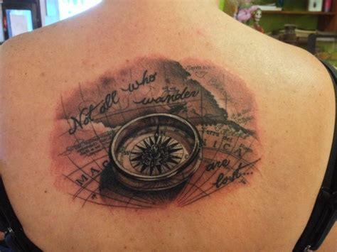 compass tattoo not all who wander are lost quot not all who wander are lost quot tattoo fever pinterest