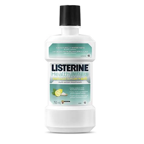listerine healthy white listerine antiseptic mouthwash