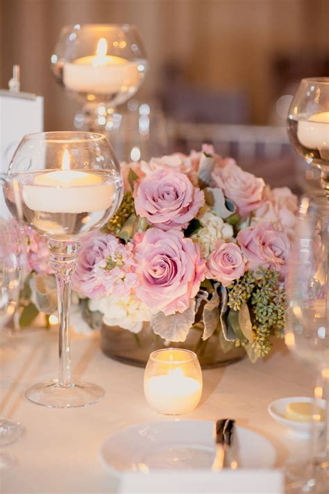 centros de mesa  bodas  copas de vidrio