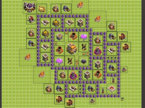 layout of coc level 7 clash of clans house daedra