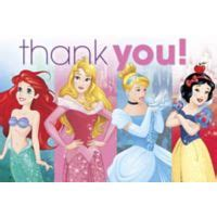 Disney Princess Thank You Card Template by Disney Princess Supplies Princess Ideas