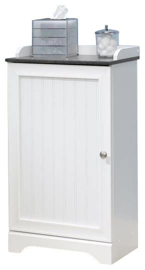 Sauder Caraway Bathroom Floor Cabinet Sauder Caraway Floor Cabinet In Soft White Transitional