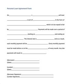 7 personal loan agreement form samples free sample
