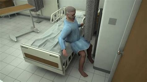 Out Of Hospital by Elderly Falling Out Of Hospital Bed 3d