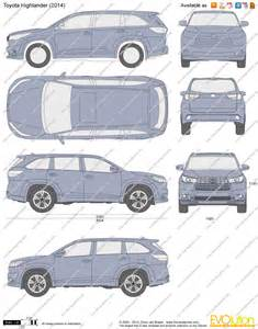 Height Of Toyota Highlander The Blueprints Vector Drawing Toyota Highlander