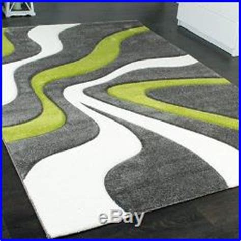 grey and lime green rug modern abstract rug lime green grey white thick floor carpet small large living room carpet