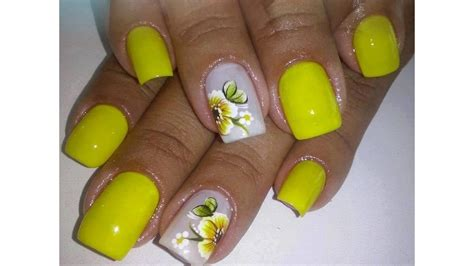 imagenes de uñas decoradas girasoles u 241 as decoradas con flores en pinceladas para los pies
