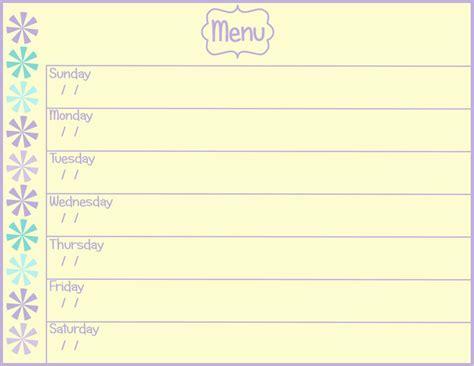 cing menu planner template weekly menu template cyberuse