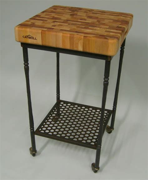 butcher block table on wheels diablo forge butcher block on wheels