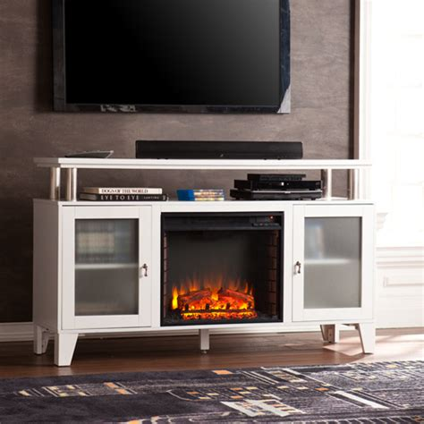60 Media Fireplace by 60 Quot Cabrini Media Electric Fireplace White Fe9349 Fi9349