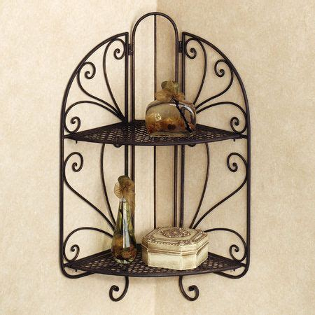 portland wrought iron corner wall shelf home
