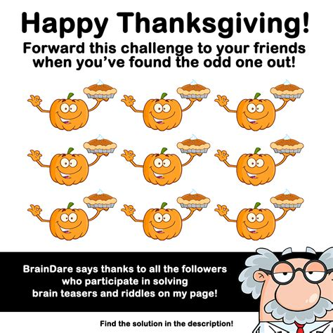 the odd one out braindare com happy thanksgiving can you find the odd one out
