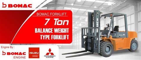 Jual Ton jual forklift 7 ton bomac foklift