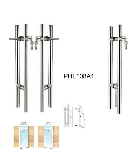 Glass Door Lock Suppliers Stainless Steel Glass Door Locking Pull Handles Manufacturer Phl108a1