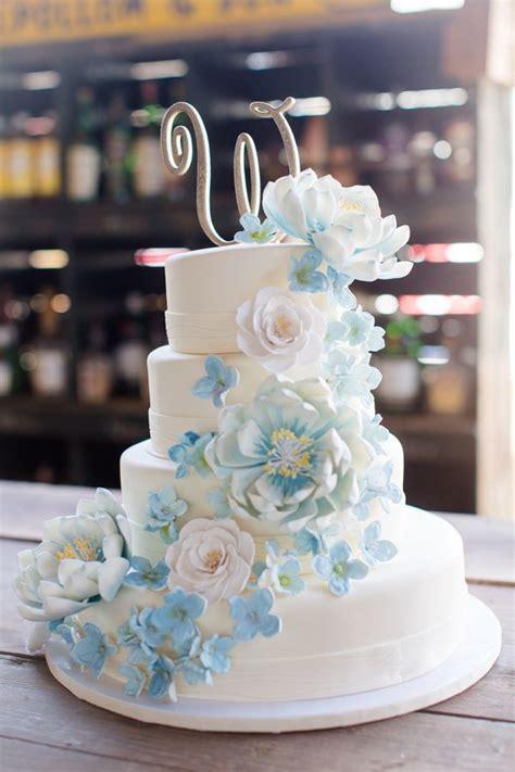 Blue Flower Wedding Cake by Blue Flower Wedding Cake Www Pixshark Images