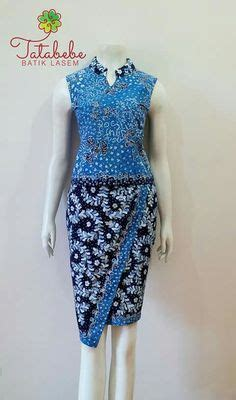 Stelan Kebaya Flower Model Baju Batik Keris Wanita Modern Terbaru Busana