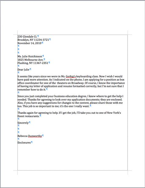 sle personal letter format best template collection