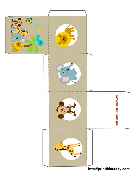 free templates for baby shower favors caixinha safari box templates shower favors and free