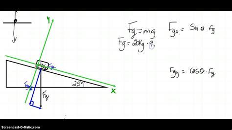 Plan Incliné Physique by 12 0 D 233 Composition Du Poids Sur Plan Inclin 233