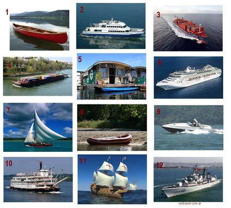 i heart english boat types - Types Of Boats Crossword