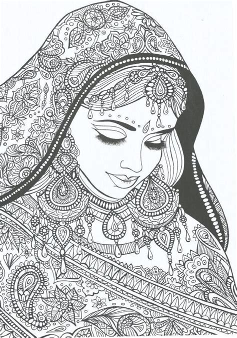 Indian Bride Coloring Page   coloring page world indian bride