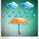 Rainy Season And Umbrella Stock Photography - Image: 22539962