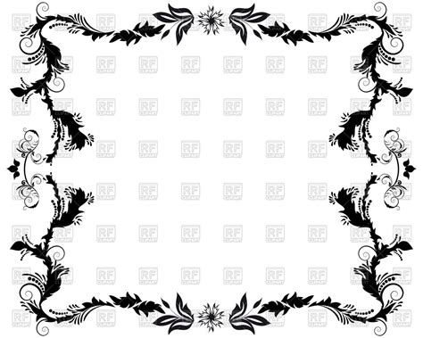 cornici gotiche vintage floral frame in style vector image of