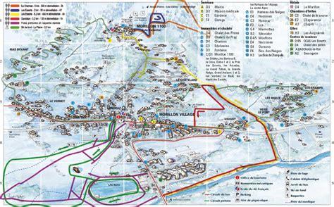 Morillon Plan de la station Morillon