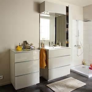commode de salle de bains taupe 60 cm pamili castorama
