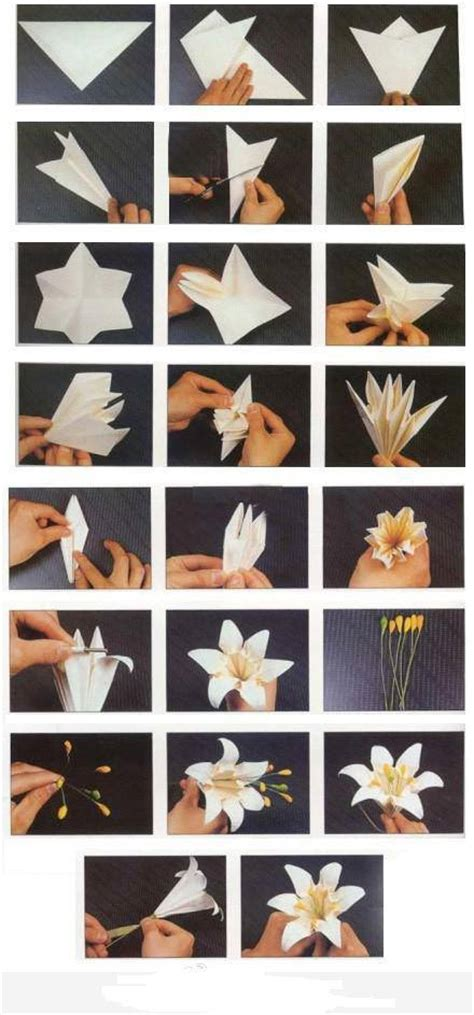 how to fold origami paper craft blooming flowers step