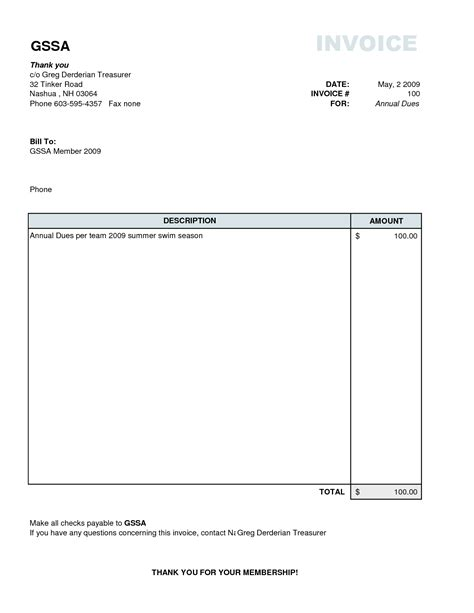 simple invoice template word simple invoice exle invoice exle