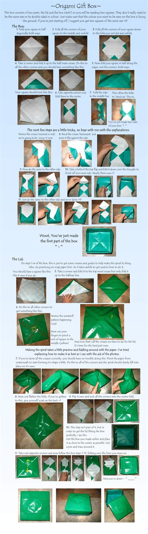 Origami Gift Box Tutorial - tutorial origami gift box by loucife on deviantart