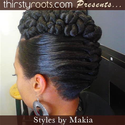 american roll hairstyle twisted updo hairstyle thirstyroots com black hairstyles